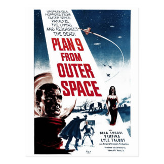 """""""Plan 9 From Outer Space"""" Postcard"""