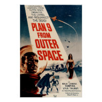 Plan 9 From Outer Space - Sci-Fi Movie Vintage Poster