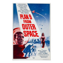 Plan 9 From Outer Space Vintage Horror Movie Poste