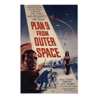 Plan 9 From Outer Space Vintage Movie Poster