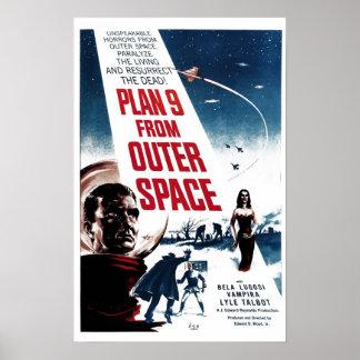 """""""Plan 9 poster del espacio exterior"""""""