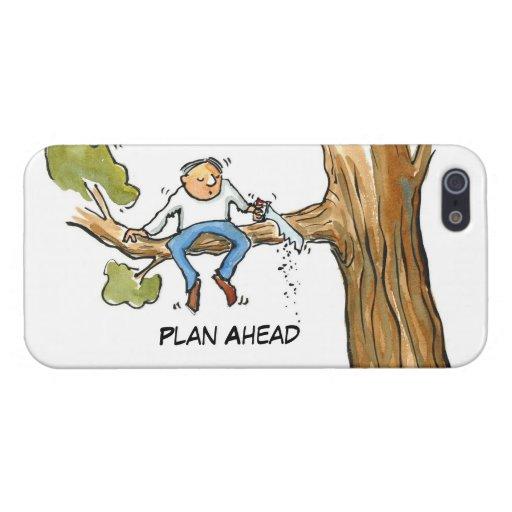 Plan a continuación--Árbol del corte del hombre iPhone 5 Cárcasa