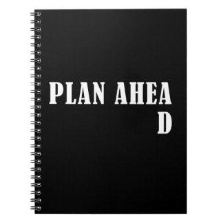 Plan a continuación libros de apuntes con espiral