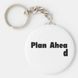 Plan a continuación llavero redondo tipo pin