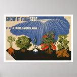 Plan A Farm Garden 1941 WPA Print