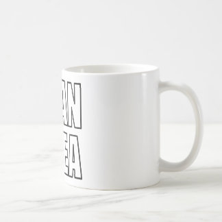 PLAN AHEA in black Classic White Coffee Mug