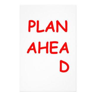 plan ahead customized stationery