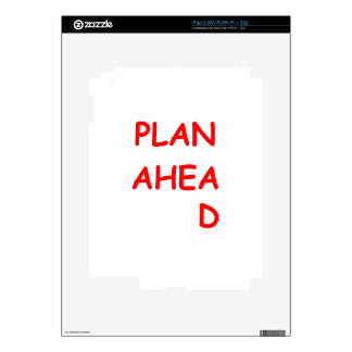 plan ahead decals for the iPad 2