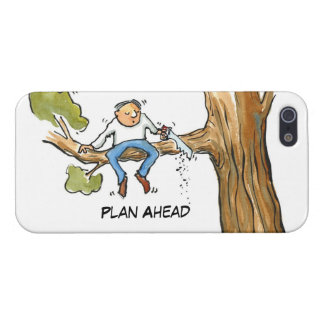 Plan Ahead--Man cutting tree iPhone 5/5S Cases