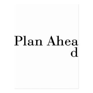 Plan Ahead Postcard