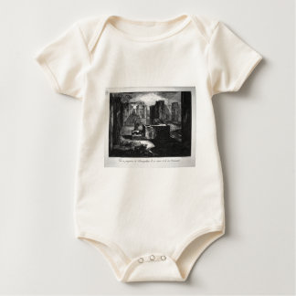 Plan and elevation of a restaurant by Giovanni Baby Bodysuit