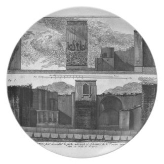 Plan and elevation of the second tavern dinner plate
