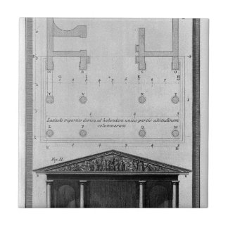 Plan and elevation of the second Temple Tuscan Ceramic Tile