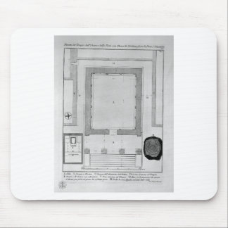 Plan and elevation rear of the Temple of the Sibyl Mouse Pad