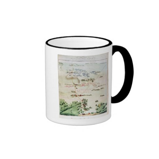 Plan and view of the Battle of Waterloo Coffee Mug