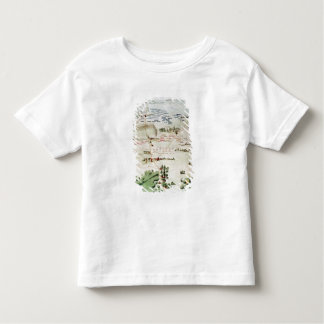 Plan and view of the Battle of Waterloo Toddler T-shirt