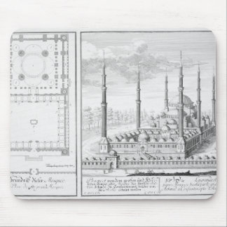 Plan and View of the Blue Mosque (1609-16), built Mouse Pad