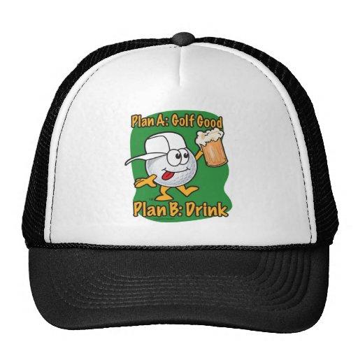 Plan B Golfing Hats