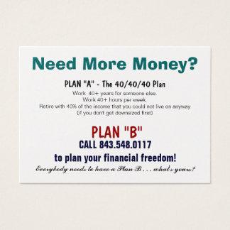 Plan B Sizzle Card