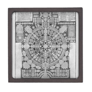 Plan broad, magnificent ancient College Gyms Keepsake Box
