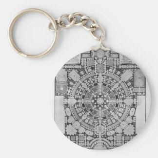 Plan broad, magnificent ancient College Gyms Keychain
