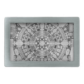 Plan broad, magnificent ancient College Gyms Rectangular Belt Buckle