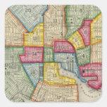 Plan de Baltimore Pegatina Cuadrada
