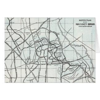 Plan de bosquejo del arroyo de Caballo de alquiler Tarjeta De Felicitación