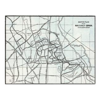 Plan de bosquejo del arroyo de Caballo de alquiler Tarjeta Postal
