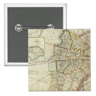 Plan de Boston y de Charleston Pin Cuadrada 5 Cm