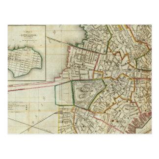 Plan de Boston y de Charleston Tarjeta Postal