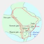 Plan de Cartago Pegatinas Redondas
