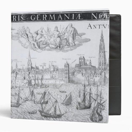 """Plan de ciudad de Amberes, 1549 Carpeta 1 1/2"""""""