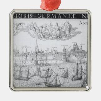 Plan de ciudad de Amberes 1549 Ornaments Para Arbol De Navidad