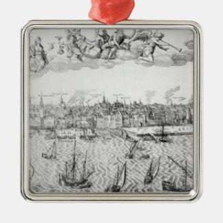 Plan de ciudad de Amberes 1549 Adorno De Reyes