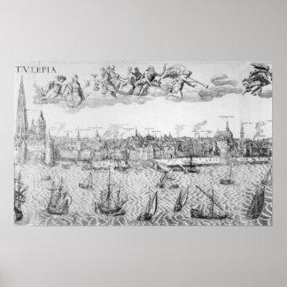 Plan de ciudad de Amberes 1549 Poster
