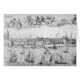 Plan de ciudad de Amberes 1549 Tarjeta