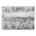 Plan de ciudad de Amberes, 1549 Tarjeta De Felicitación