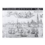 Plan de ciudad de Amberes, 1549 Tarjetas Postales