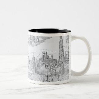 Plan de ciudad de Amberes 1549 Taza De Café