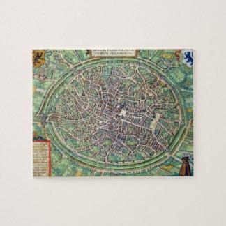 Plan de ciudad de Brujas, de 'Civitates Orbis Terr Puzzles