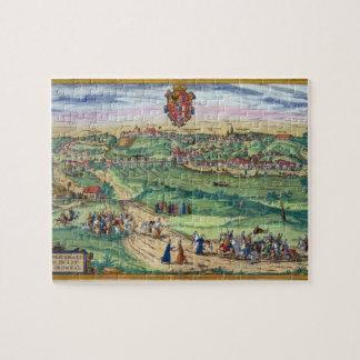 Plan de ciudad de Grodno, de 'Civitates Orbis Terr Rompecabeza Con Fotos