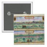 Plan de ciudad de Viena y de Buda, de 'Civitates O Pin Cuadrada 5 Cm