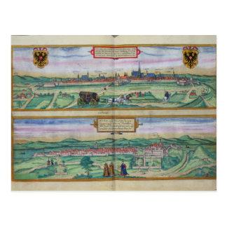 Plan de ciudad de Viena y de Buda, de 'Civitates O Tarjetas Postales
