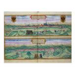 Plan de ciudad de Viena y de Buda, de 'Civitates Tarjetas Postales