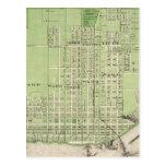 Plan de Davenport, el condado de Scott, estado de  Tarjeta Postal