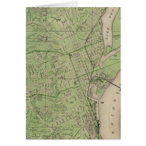 Plan de Dubuque, el condado de Dubuque, estado de  Tarjetas