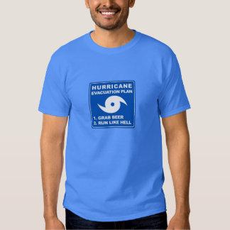 Plan de evacuación del huracán camisas