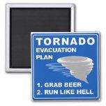 Plan de evacuación del tornado imán para frigorifico