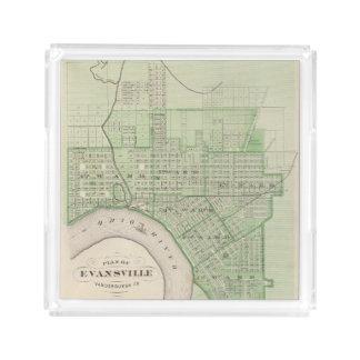 Plan de Evansville, Vanderburgh Co Bandeja Cuadrada